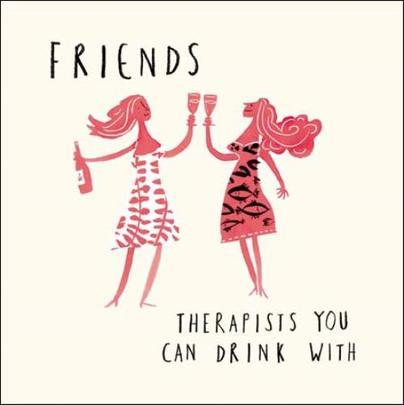 Friends Therapists Livin' It Birthday Greeting Card