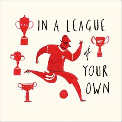 League Of Your Own Livin' It Birthday Greeting Card
