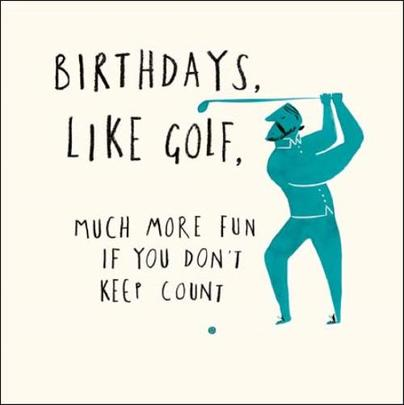 Like Golf Livin' It Birthday Greeting Card