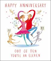 Happy Anniversary Livin' It Greeting Card