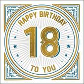 Happy 18th Birthday Odyssey Greeting Card