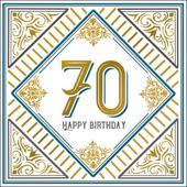 Happy 70th Birthday Odyssey Greeting Card