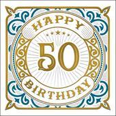 Happy 50th Birthday Odyssey Greeting Card