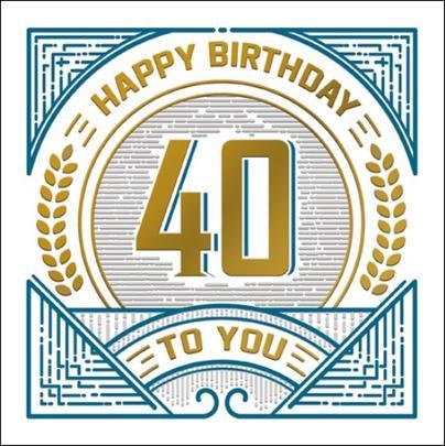 Happy 40th Birthday Odyssey Greeting Card