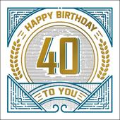 Happy 40th Birthday Odyssey Greeting Card