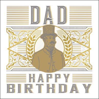 Dad Happy Birthday Odyssey Greeting Card