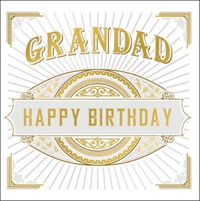 Grandad Happy Birthday Odyssey Greeting Card