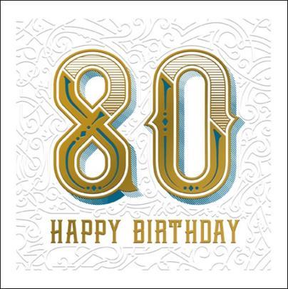 Happy 80th Birthday Odyssey Greeting Card