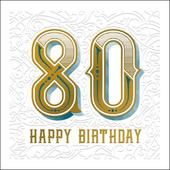 Happy 80th Birthday Odyssey Greeting Card