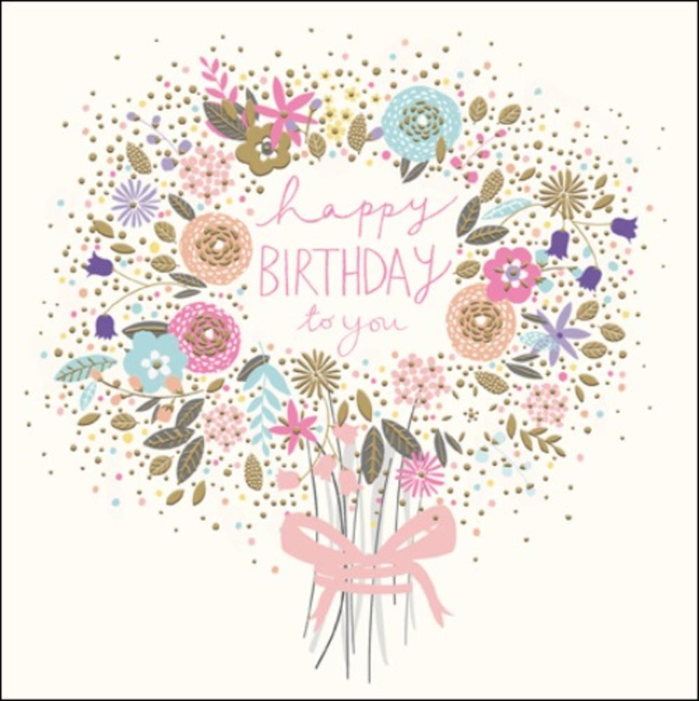 Happy Birthday Bouquet Greeting Card