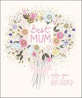 Best Mum Happy Birthday Greeting Card