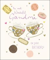 Wonderful Grandma Happy Birthday Greeting Card