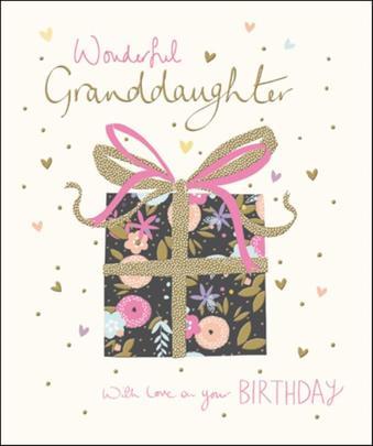 Granddaughter Happy Birthday Greeting Card