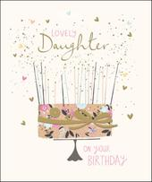 Lovely Daughter Happy Birthday Greeting Card