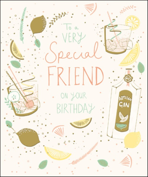 Special Friend Happy Birthday Greeting Card Cards Love Kates