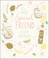 Special Friend Happy Birthday Greeting Card