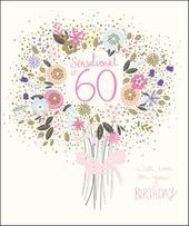 Pretty Happy 60th Birthday Greeting Card