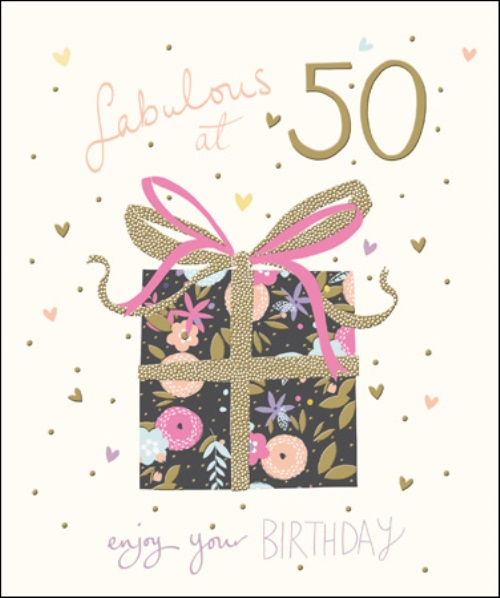 Pretty Happy 50th Birthday Greeting Card Cards Love Kates