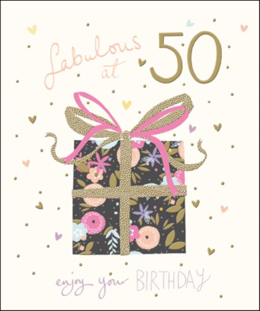 Happy 50th Birthday Images.Pretty Happy 50th Birthday Greeting Card