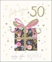 Pretty Happy 50th Birthday Greeting Card
