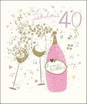 Pretty Happy 40th Birthday Greeting Card