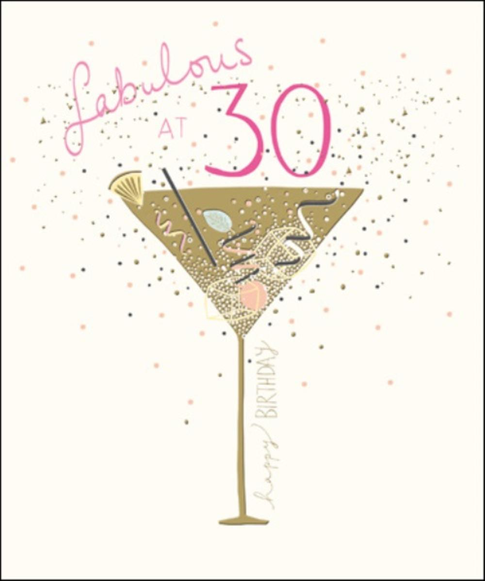 Pretty Happy 30th Birthday Greeting Card