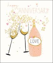 Happy Anniversary Pretty Greeting Card