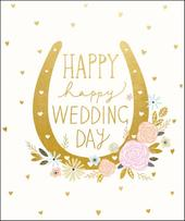 Happy Happy Wedding Day Greeting Card