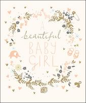 Beautiful New Baby Girl Greeting Card