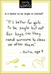 Single Or Married Little Genius Greeting Card
