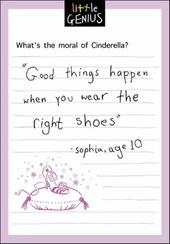 Moral Of Cinderella Little Genius Greeting Card