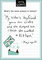 Sister's Crabs Little Genius Greeting Card