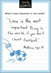 Love Or Football Little Genius Greeting Card