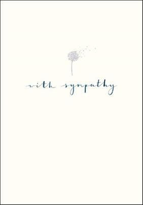 With Sympathy Simple Silver Foil Greeting Card