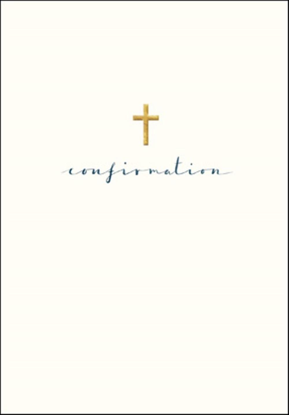 Confirmation Simple Gold Foil Greeting Card Cards Love Kates