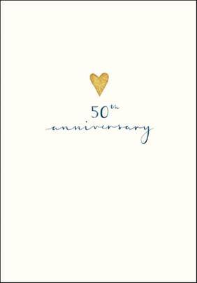 50th Anniversary Simple Gold Foil Greeting Card