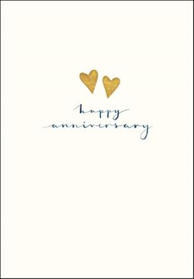 Happy Anniversary Simple Gold Foil Greeting Card