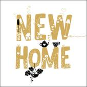 New Home Gold Glitter Greeting Card