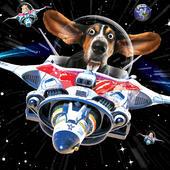 Warp Speed Googlies Birthday Card