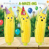 A-maize-ing Birthday Googlies Birthday Card