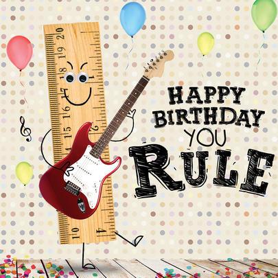You Rule Googlies Birthday Card