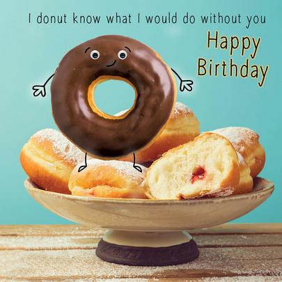 Happy Birthday Donut Googlies Birthday Card