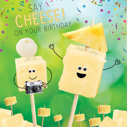 Say Cheese Googlies Birthday Card