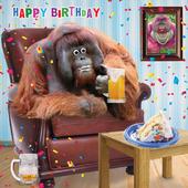 Bernie's Beer Googlies Birthday Card