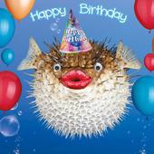 Blow Me A Bubble Googlies Birthday Card