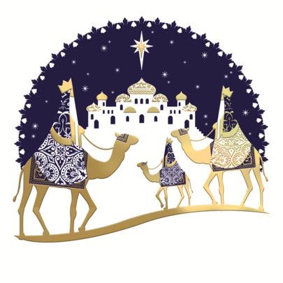 Pack of 8 Foiled Kings NSPCC Charity Christmas Cards