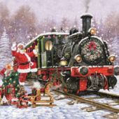 Pack of 8 Santa Express NSPCC Charity Christmas Cards