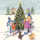Pack of 8 O' Christmas Tree NSPCC Charity Christmas Cards
