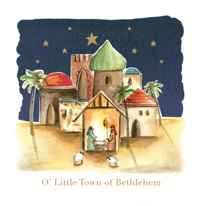 Pack of 8 Bethlehem Alzheimer's Society Charity Christmas Cards