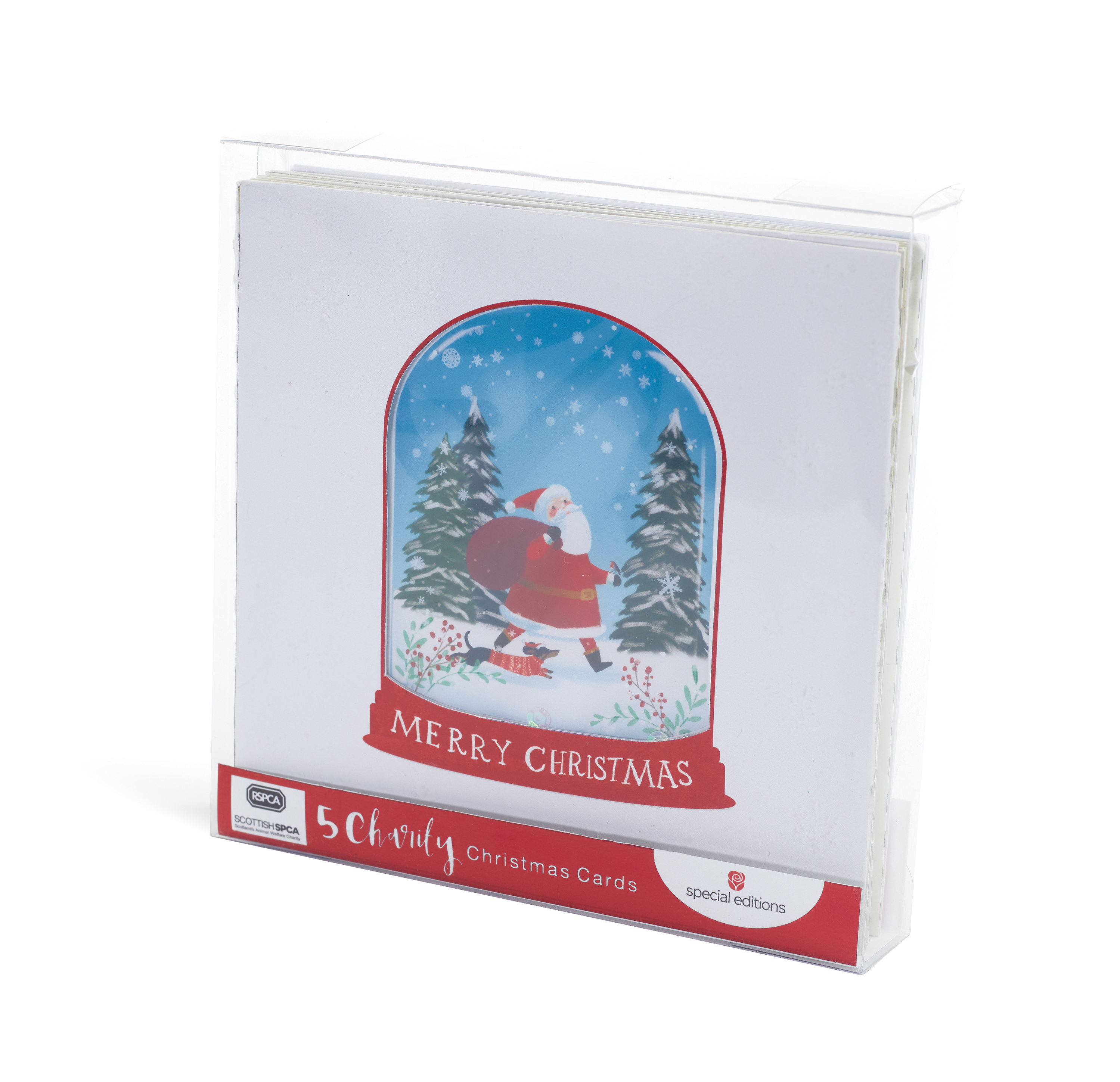 Box of 16 RSPCA Charity Christmas Cards 2 Designs Charity Xmas Card Boxes